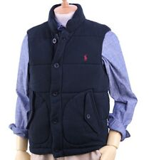Polo Ralph Lauren Quilted Fleece Vest in Size Small in Black w/red horse