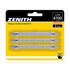 Zenith 3x 230W ECO = 300W linear halogen bulb R7s QT-DE12 240V 118mm 4700lm