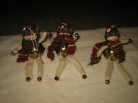 "SET OF 3 SNOWMAN BELL CHRISTMAS TREE HOLIDAY ORNAMENTS APPROX. 7"" TALL"
