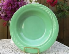 """*Rare* Fire King Jade-ite Jadeite Jane Ray 9"""" Flat-Rimmed Soup Bowl *Mint*"""