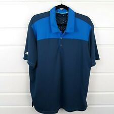 Adidas Climachill Blue/Blue-Grey Workout Polo Missing Size Tag