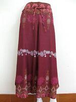 New Ladies Wide Leg Pants Palazzo Lagenlook Bohemian Gypsy Hippie Trousers Wrap