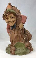 "Tom Clark Gnome Stuck in Tree Trunk #302 Edition #99 Cairn Studio 6.5"" COA"