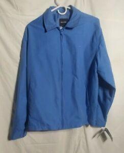 Pierre Cardin Lined Windbreaker Zip Closure Polyester Jacket Men's Blue - Medium