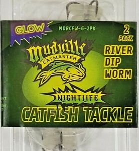 Mudville Castmaster Catfish Tackle Dip Tube Glow 2 Pack Lot of 4 Packs New