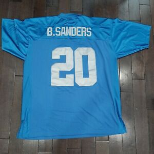 Mitchell & Ness BARRY SANDERS DETROIT LIONS NFL 75th Anniversary Jersey Size 54