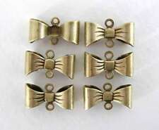 Ribbon Bow Connector Antiqued Brass Ox Vintage Style Finding 15mm