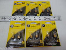 (12) New GE 1893 Miniature Lamp Bulb 5w Single Contact 12 volt T3-1/4 Free Ship