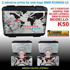 2 adesivi borse LATERALI valigie K50 BMW R1200GS LC bussola planisfero dal 2013