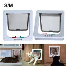 New listing Ridgeyard 4 Way S M Pet Cat Puppy Dog Magnetic Lock Lockable Safe Flap Door Gate