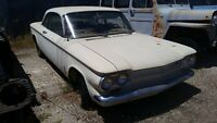 1963 CHEVROLET CORVAIR MONZA RIGHT DOOR HINGE PARTING OUT COMPLETE CAR