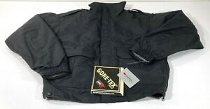BLAUER 9910Z GORE-TEX CRUISER JACKET & FLEECE LINER w/ PATCHES REMOVED NAVY MED
