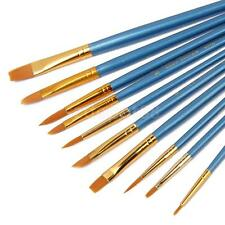 10pc Assorted Paint Brushes for Acrylic Oil Watercolor Artist Painting Craft