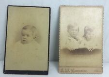 Lot Of Two Antique Cabinet Cards Baby And Small Children North Georgia Photos
