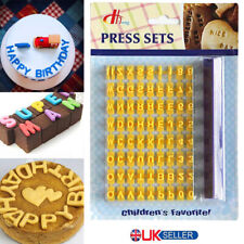 72pc Alphabet Number Letter Cookie Biscuit Stamp Cutter Embosser Cake Mould Tool
