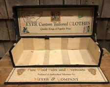 RARE Antique MEYER Custom Tailored Clothes Suit Sample Case Tailoring Display