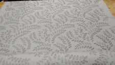 Braemore Sangla Robins Egg Embroidered Leaf Woven Drapery Fabric BTY