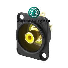 Fiche RCA Chassis norme D Anneau de Répérage Noir Neutrik Nf2db0