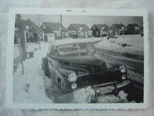 Vintage Car Photo 1941 Cadillac Automobile in Winter Snow Plow 785