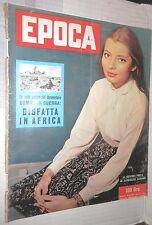 EPOCA 14 luglio 1957 Jacqueline Sassard Kruscev Bouillon Diana Dors Aga Khan di
