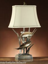 Upstream Fish Table Lamp Rustic Cabin Lake Lodge Trout Angler Fly Fishing
