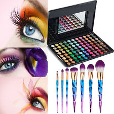 88 Colors Cosmetic Matte Smoky Eyeshadow Glitter Palette 7Pcs Makeup Brushes Set