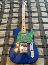 Fender Telecaster Made In Mexico Guitar (Sparkle Blue) Green Pick Guard