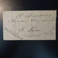 FRANCE MARQUE POSTALE LETTRE COVER P2P MONTCORNET 1827