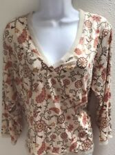 top blouse 3X plus size womens Casual V Neck Floral Print