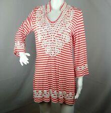 V Cristina Womens Size L Large Striped Dress Jersey feel