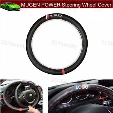 1pcs TRD Racing Sport Carbon fiber Car Steering Wheel Cover Size 38cm For Toyota