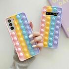 For Samsung A12 A32 A52 A02S A71 Pop it Fidget Push Bubble Toys Phone Cover Case