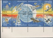 US NASA 1981 SCOTT #1912-1919 18c SPACE ACHIEVEMENTS 8 STAMP 18c PLATE BLOCK SET