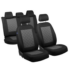 Schwarz-Graue Seat Covers for Toyota Avensis Car Seat Cover Complete
