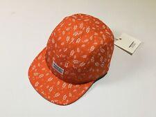 Norse Projects 5 Panel Cap Leaf Camo Corn Print Orange oi polloi baseball hat