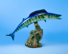 "Wahoo 16"" Statue Taxidermy Fiberglass Fish Decor"