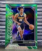 🔥2020-21 PRIZM Zeke Nnaji #6 Emergent Insert Green Holo❇️Rookie RC Nuggets