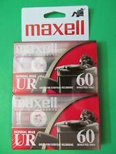 Maxell UR Normal Bias 60 Minutes Blank Cassettes New Sealed