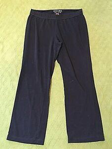 LADIES SONOMA LOUNGE PANTS BLACK PL PETITE LARGE 31 X 28 ELASTIC WAIST PULL ON