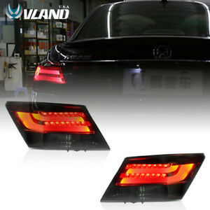 VLAND LED Tail Lights for Honda Accord 2008-2012 LED Rear Smoked Lens