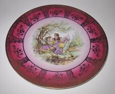 "Bavaria Germany Fragonard Courting Couple on Swing Decorative Plate 10 3/8"""