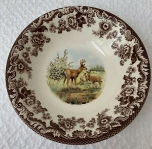 SPODE/England  Woodland 8 X 2  round bowl Mule Deer S3422  NWT