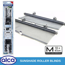 2 CAR side window sunshade curtains roller blinds 52cm sun block kids protection