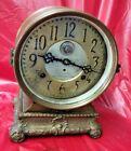 Very Unusual Large Seth Thomas Brass Case Long Alarm Shelf Clock---Beautiful