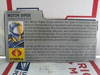 1 filecard gamme 1990-Viper Vipers vintage GI JOE FILE CARD I.D
