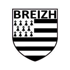 Autocollant blason Bretagne Breton Breizh sticker 4 cm