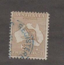 M1015dms Australia 2/- Kangaroo 2nd Watermark used SG29 stamp