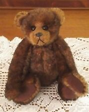 Debbie Peek Handmade Bear German Mohair, Glass Eyes, Ultra Suede Paw