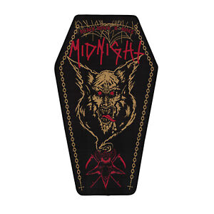 Midnight - Black Rock n Roll Woven Backpatch (Back Patch)