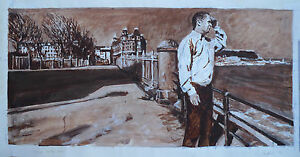 """Clive Head - Original large-scale acrylic sketch """"The Magic Realist"""""""